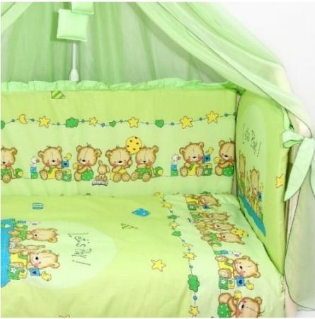 Постельный сет 7 предметов Labeillebaby Давай поиграем (зеленый) постельный сет 7 предметов золотой гусь степашка зеленый