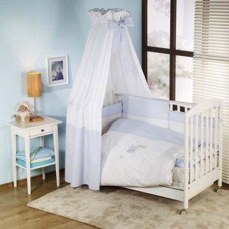 Постельный сет 6 предметов Nino Elefante (blue) комплекты в кроватку nino el amor 6bb предметов