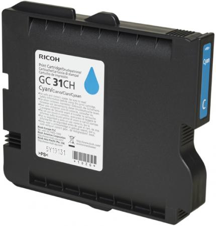Картридж Ricoh GC 31CH для Ricoh Aficio GX e2600/e3300N/e3350N/e5550N голубой 405702 цены