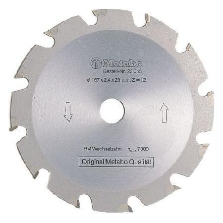 Пильный диск Metabo190x2.2х30мм HM WZ=14 грубый пропил 628005000