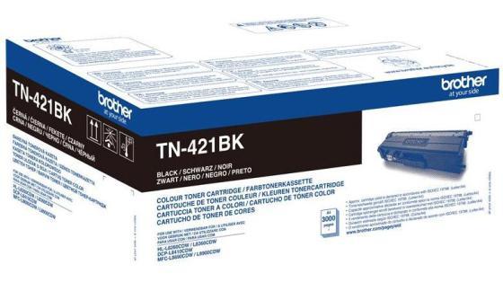 Картридж Brother TN421BK для Brother HL-L8260/8360/DCP-L4810/MFC-L8690/8900 черный 3000стр тонер картридж brother tn421y желтый 1800стр для brother hl l8260 8360 dcp l4810 mfc l8690 8900