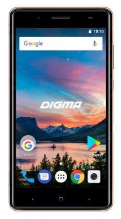 Смартфон Digma HIT Q500 3G золотистый 5 8 Гб Wi-Fi GPS 3G HT5035PG смартфон micromax a107 cosmic grey 4 5 8 гб wi fi gps 3g 4 5 2sim 8гб gps wi fi 3g android 5 0 2000 ма ч