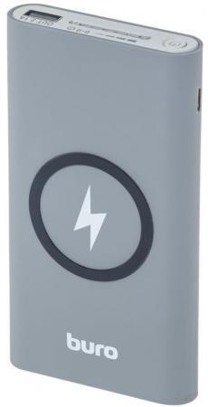 Внешний аккумулятор Power Bank 8000 мАч BURO HG8000-WCH серый белый ламинатор buro hq 236