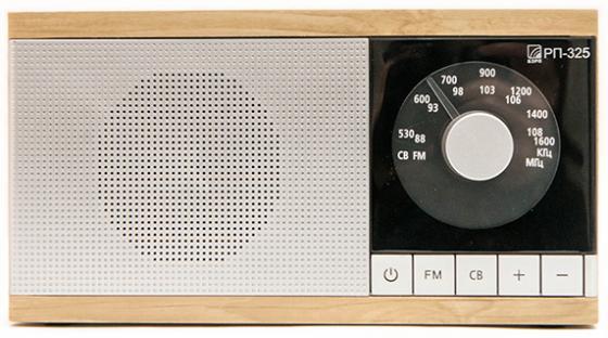 лучшая цена Радиоприемник Сигнал БЗРП РП-325 коричневый/серебристый