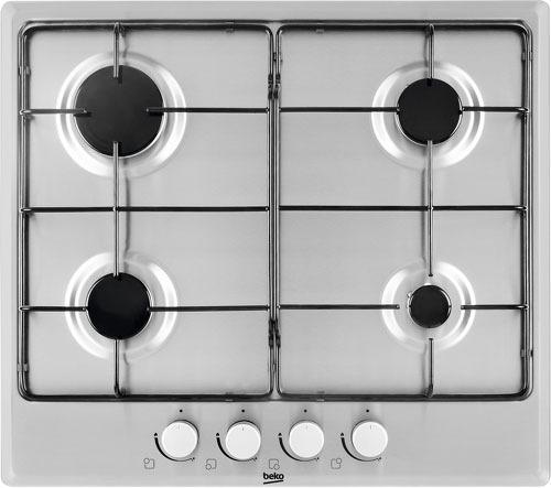 Варочная панель газовая Beko HIAG 64223 X серебристый цена и фото