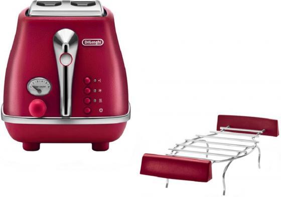 Тостер DeLonghi CTOE 2103.R красный тостер delonghi ctov 2103 az