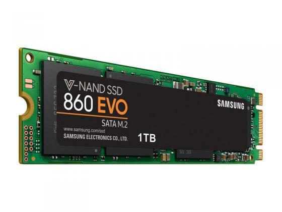 Твердотельный накопитель SSD M.2 1Tb Samsung 860 EVO Read 550Mb/s Write 520Mb/s SATAIII MZ-N6E1T0BW цена и фото
