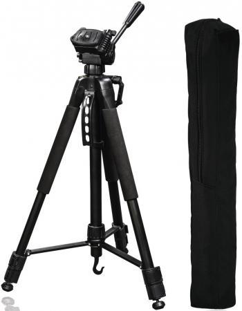 Штатив Hama Action 165 3D напольный алюминий черный 00004095 штатив hama star black 153 3d напольный черный 00004469