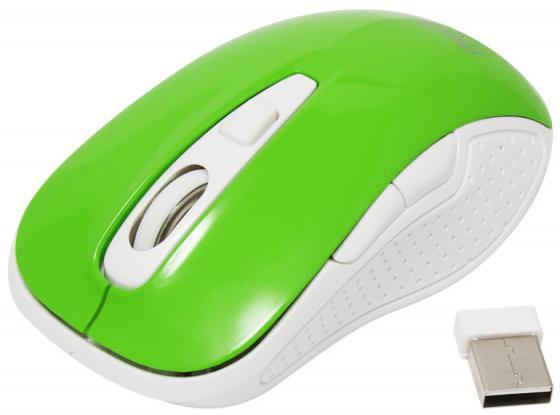 Мышь беспроводная Perfeo Click PF-966 зелёный USB + радиоканал мышь беспроводная perfeo pf 763 wop w y белый жёлтый usb радиоканал