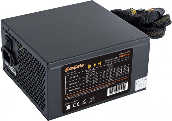 Блок питания ATX 700 Вт Exegate 700PPX Mining Edition EX270867RUS блок питания atx 700 вт exegate 700npxe pfc ex220360rus