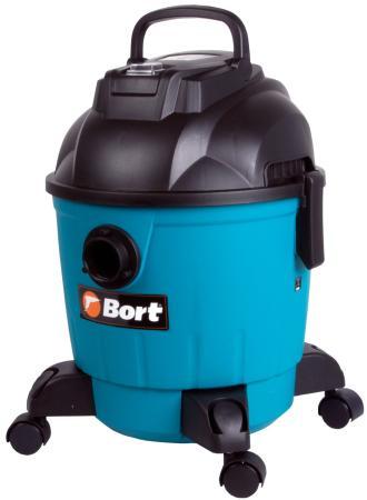 Промышленный пылесос BORT BSS-1218 сухая влажная уборка чёрный синий