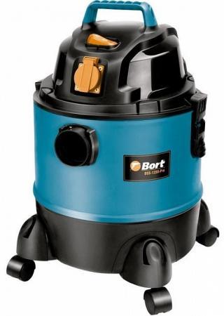 Промышленный пылесос BORT BSS-1220-Pro сухая влажная уборка чёрный синий 98291797 промышленный пылесос dewalt dwv 901 l сухая уборка чёрный жёлтый