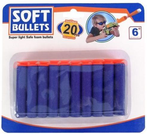 Мягкие пули Наша Игрушка Soft bullets синий SPA891973C игрушка