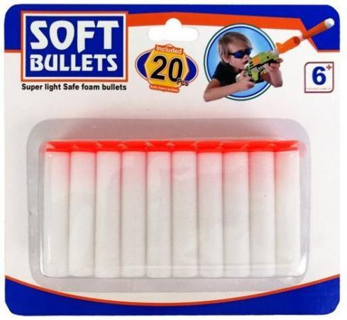 Мягкие пули Наша Игрушка Sogt bullets белый SPA942950C игрушка
