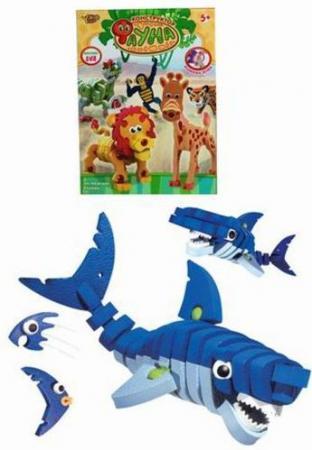 Констр-р мягкий Акула 47 деталей констр р мягкий акула 47 деталей