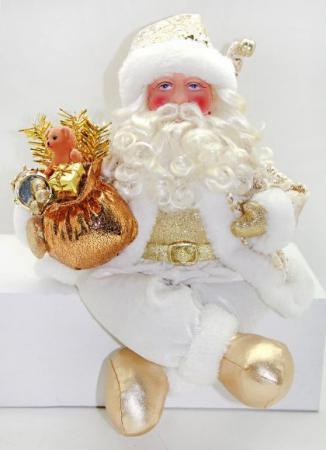 Дед Мороз Новогодняя сказка Дед Мороз 43 см 1 шт белый пластик, текстиль 949209 комбинезон тузик дед мороз карнавальный йорк 1 кобель