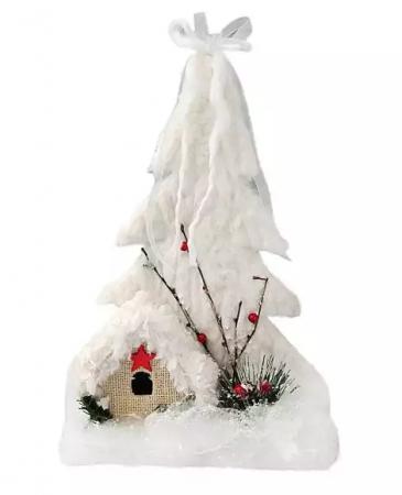 Елочные украшения Новогодняя сказка Снежный городок 25 см 1 шт пенопласт цена и фото