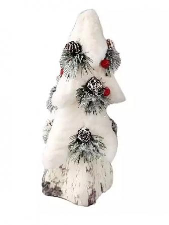 купить Елочные украшения Новогодняя сказка Елка заснеженная 26 см 1 шт пенопласт дешево