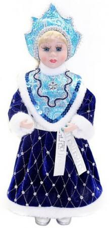 Кукла Новогодняя сказка Снегурочка, 36 см 1 шт синий пластик, текстиль новогодняя сказка новогодняя сказка кукла снегурочка 35 см золотой