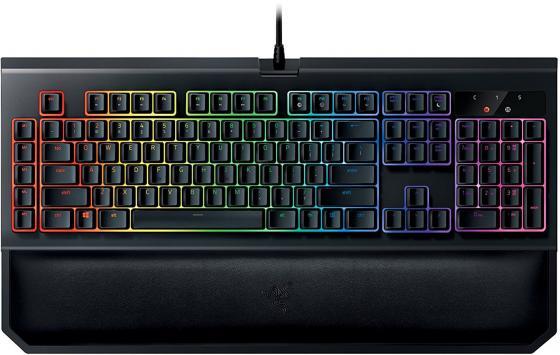 Клавиатура проводная Razer BlackWidow ChromaV2 USB черный RZ03-02032300-R3M1 игровая клавиатура razer blackwidow chroma v2 orange switch