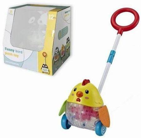 Каталка на палочке Наша Игрушка Цыпленок пластик от 3 лет на колесах разноцветный Y2718143