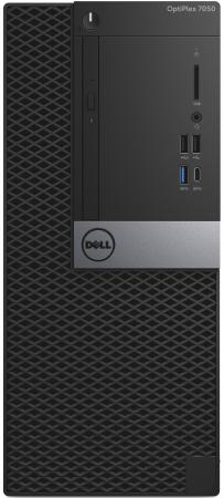 Системный блок DELL OptiPlex 7050 MT Intel Core i7 7700 16 Гб 1 Тб Intel HD Graphics 630 Windows 10 Pro настольный компьютер dell optiplex 5050 mt black silver 5050 8299 intel core i7 7700 3 6 ghz 8192mb 1000gb dvd rw intel hd graphics ethernet windows 10 pro 64 bit