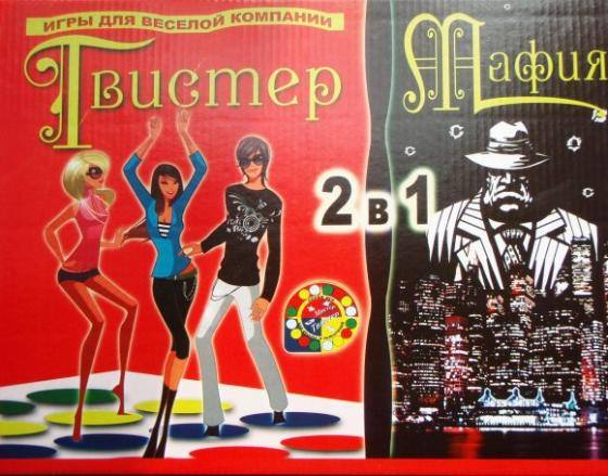 цена на Настольная игра для вечеринки Бэмби Мистер-Твистер+Мафия 7074