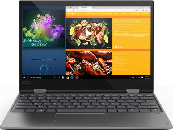 "Ноутбук Lenovo Yoga 720-12IKB 12.5"" 1920x1080 Intel Core i7-7500U 512 Gb 8Gb Intel HD Graphics 620 серый Windows 10 Home 81B5004LRK ноутбук lenovo thinkpad x1 yoga 14 2560x1440 intel core i7 6500u ssd 512 8gb intel hd graphics 520 черный windows 10 home 20frs0sd00"