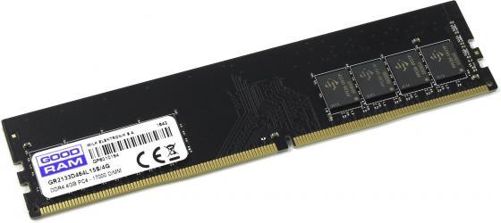Оперативная память 4Gb PC4-17000 2133MHz DDR4 DIMM GoodRAM CL15 IR-C2133D464L15S/4G память ddr4 kingston kvr21r15s8k4 16 4х4gb dimm ecc reg pc4 17000 cl15 2133mhz