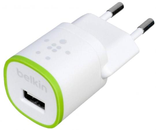 Сетевое зарядное устройство Belkin F8J013vfWHT 1A USB белый зарядное устройство зарядное устройство сетевое qtek s200 htc p3300 ainy 1a