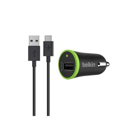 все цены на Автомобильное зарядное устройство Belkin F7U002bt06-BLK 2.1A USB черный онлайн