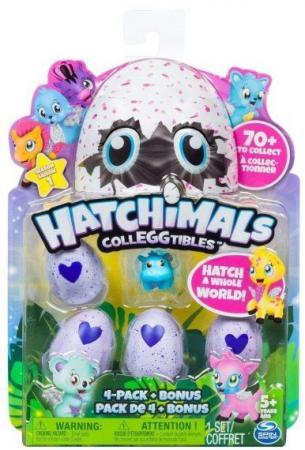 Игрушка Hatchimals коллекционная фигурка 4 штуки+бонус, в асс-те фигурка коллекционная spin master hatchimals 634074