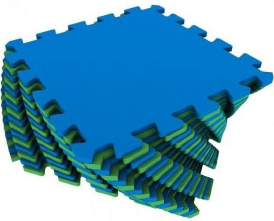 Мягкий пол универсальный сине-зеленый 16 дет (1 дет - 25*25 см) цена