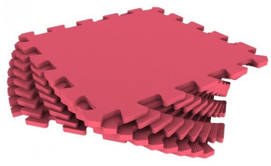 Мягкий пол универсальный красный 9 дет (1 дет - 33*33 см) tchui красный универсальный