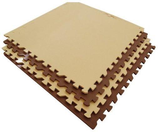 Мягкий пол универсальный бежево-коричневый с кромками 4 дет (1 дет - 60*60 см) weissgauff ascot 575 eco granit бежевый