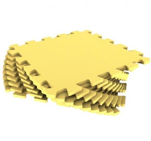 Мягкий пол универсальный желтый с кромками , 9 дет (1 дет - 30*30 см) weissgauff ascot 575 eco granit бежевый