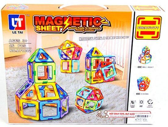 Магнитный конструктор Наша Игрушка Magnetic Sheet 46 элементов LT1002 magnetic sheet building blocks variable lift magnetic sheet puzzle children toys