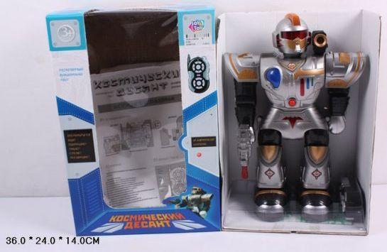 Робот радиоуправляемый Наша Игрушка Космический десант 33 см на радиоуправлении 9192 игрушка