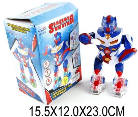Интерактивный робот Наша Игрушка Танцующий 23 см со звуком светящийся 0522A пупс наша игрушка 200133855 32 см со звуком