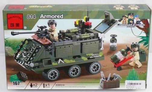 Конструктор BRICK Бронетранспортер 167 элементов 814 конструктор roys fwc 167