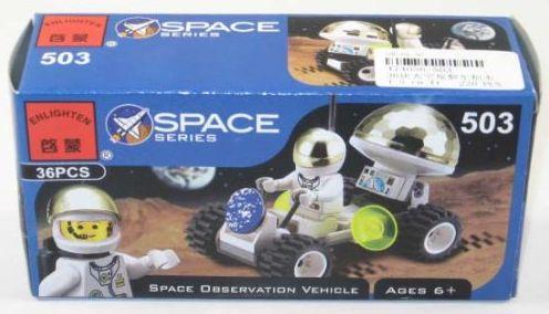Конструктор BRICK Инопланетный вездеход 36 элементов 503 конструктор brick вертолет 275 элементов 818