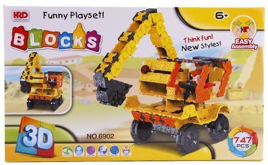 Конструктор 3D Наша Игрушка Экскаватор 747 элементов A1012404B игрушка