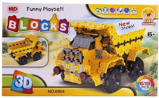 Конструктор 3D Наша Игрушка Самосвал 619 элементов A1012408B конструктор скрутка наша игрушка самосвал 12 элементов