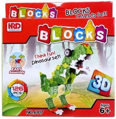 Конструктор 3D Наша Игрушка Динозавр 126 элементов A1012360B