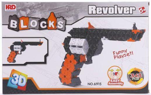 Конструктор 3D Наша Игрушка Револьвер 343 элемента A1012396B игрушка
