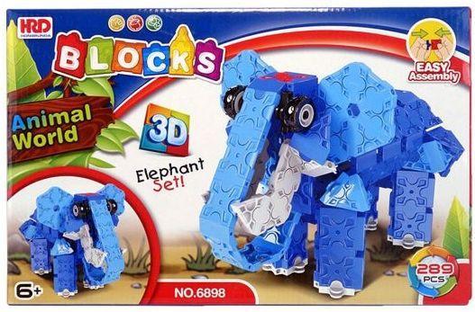 Конструктор 3D Наша Игрушка Слон 289 элементов A1012389B конструктор оригами к pixelart™ 3d пиксели 2в1 слон бегемот 02301