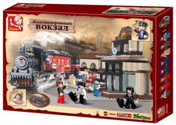 Конструктор SLUBAN Железнодорожный вокзал 526 элементов M38-B0236 конструктор sluban железнодорожный вокзал старинное авто 56дет