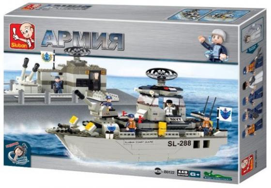 Конструктор SLUBAN Военный флот 449 элемента M38-B0122 конструкторы sluban red cliff вох m38 b0263 233 элемента