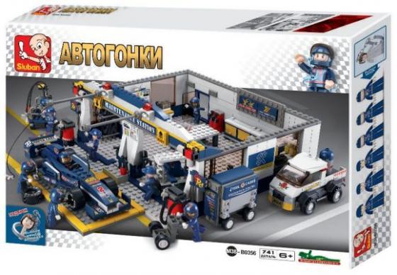 Конструктор SLUBAN Станция обслуживания 741 элемент M38-B0356 лего 60132 конструктор city станция технического обслуживания