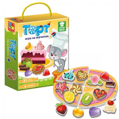 Магнитная игра развивающая Vladi toys Крошка Шеф Торт VT3004-07 магнитная игра одевашка vladi toys ева